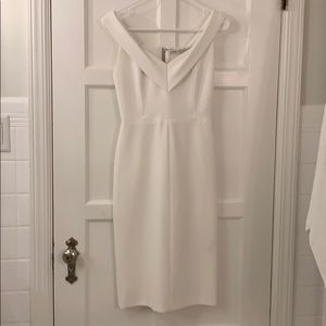 White off the shoulder Alice and Olivia dress